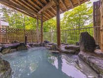 新緑露天風呂~風が通りぬける心地よい露天風呂
