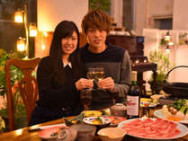 ◆ご夕食はワインで乾杯♪美食をおたのしみ下さい