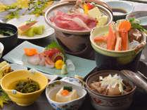 ◆かに鍋&牛陶板焼き