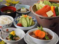 ◆カジュアルプラン【山形牛ビーフシチュー+サーモン陶板焼き】