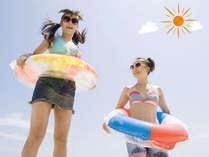 夏休み♪海は目の前!部屋から水着でビーチへGO(特典付)