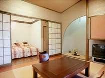4名まで宿泊できる人気の和洋室