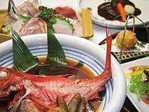 金目煮姿・伊豆牛・お刺身の和洋折衷ディナープラン