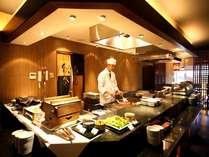 『山里』オープンキッチン
