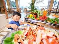 【バイキング】本ズワイ蟹が食べ放題!沼津港直送の刺身や海鮮BBQも大好評!