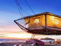 シンボルの空中テント