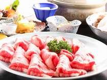 サシの入った牛肉を高原野菜とともに!霜降り国産牛のしゃぶしゃぶプラン(2食付き)