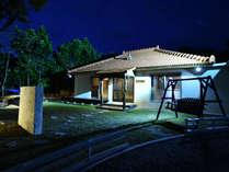 夜の琉球古民家