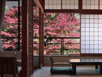 秋の福寿館客室例