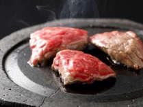 ご当地グルメ。能登牛の石焼ステーキで贅沢に