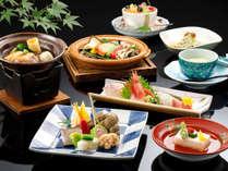 石屋会席一例/金沢伝統の治部煮、能登の旬魚、加賀野菜で食をご堪能下さい