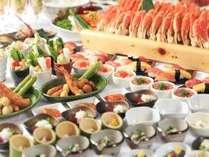 料理長厳選食材を和洋中の調理人が渾身のバイキングへ。