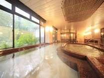 大きなお風呂でぽっかぽか♪※内湯は温泉に浸かれない方でも安心の沸かし湯となります。