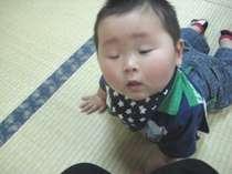 畳のお部屋だから赤ちゃんが転がっても心配無用です!