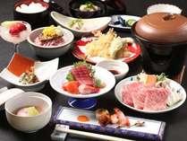 ご夕食の和食会席膳です。季節によって内容が変わります。(イメージ)