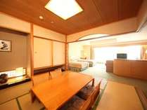 和室も洋室もある特別室。洋室の2倍もあるのでお子様もはしゃげる!