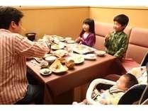お食事会場「レストランはまなす」 ご家族でもゆったりとお過ごしいただけます。