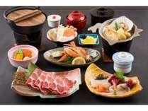 北海ちゃんちゃん焼と駒ヶ岳ポークのすき焼きが付いた会席料理