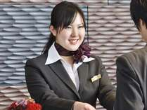 フロントスタッフが最高の笑顔でお出迎えいたします♪