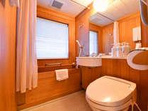 *ツイン(客室一例)/青森ヒバの湯船が自慢!自然の香りに癒されてごゆっくりとご入浴下さい。