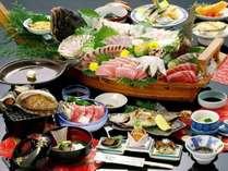 素材にこだわり、素材を見極め、素材を活かす、割烹網元のお食事。