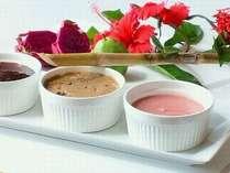 ▲栄養満点の島食材で作ったホテルメイドのジャム&マーガリン