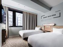 スタンダードツイン19平米・120cmx2台大きな窓で開放的なお部屋です