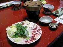 ☆平日限定☆お肉たっぷり猪鍋プラン☆