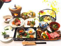 【お食事】いわて南牛プラン。料理長こだわりの季節の料理