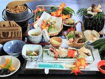 【松茸たっぷり6品】の松茸会席×赤城山や伊香保温泉の紅葉を愉しむ☆