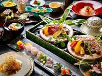 ■DEN RIKYU 会席■ 四季おりおりの生命力にあふれた旬の恵みを、熟練の料理人が真心こめて仕上げます