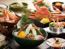 蟹の刺身や蟹鍋、釜飯など蟹好きにはたまりません