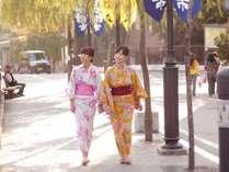小川屋は温泉街のほぼ中心に位置しており足湯巡りにも最適。