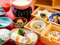 ~湯葉と野菜の7色しゃぶ~朝ごはんフェス2013日本一受賞の朝食。