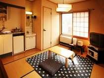 【通常タイプ】ミニキッチンや調理具が揃う通常タイプの和室6畳