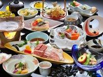 2大メイン【耳納豚】&【黒毛和牛】料理つき<までら会席>※季節によって調理法が変わります。