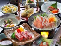 2大メイン【耳納赤豚】&【黒毛和牛】料理つき<までら会席>※季節によって調理法が変わります。