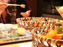 お食事風景 一例※お料理は入荷状況等により変わります。