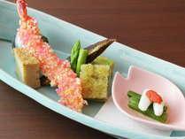 【前菜一例】色とりどりの前菜で食のストーリーが始まる