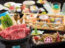 夏の会席料理より。料理長こだわりの食材がひとつひとつ丁寧に調理された季節替わりの内容です。