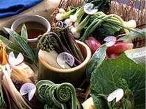 春は旬の山菜を。3月4月は山菜を中心としたお料理です。懐石料理一例