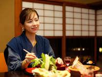 ~食事イメージ~ ご夕食は、個室食事処かお部屋食にてご案内いたします。