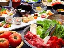 ~夏季限定 信州牛すき焼き夏野菜懐石~ 甘めの味付けをした柔らかな信州牛を、旬の新鮮夏野菜とともに。