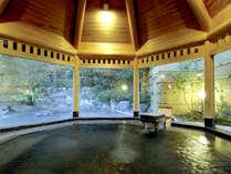 【大浴場】とろみのある美肌の湯≪甘露の湯≫を源泉かけ流しでお愉しみ下さい。