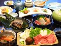 コースの一例【贅沢×豪快×満腹】「アワビの踊り焼き」と「熊野牛鍋」