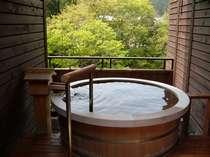 ひのきの間の露天風呂は一番の展望風呂です