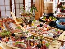 地元淡路島の食材をふんだんに使用したビュッフェ