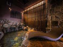 【岩風呂】 別府の伝統工芸品である「竹」をモチーフに