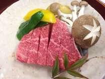 【夕食一例】A5等級の飛騨牛ランプステーキ♪