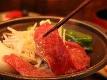 夕食(信州牛の陶板焼き)